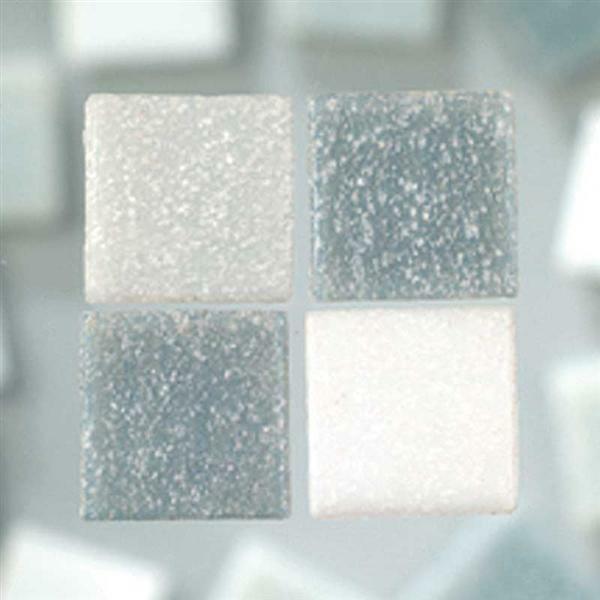 Mozaïek glasstenen - 200 g, grijs mix