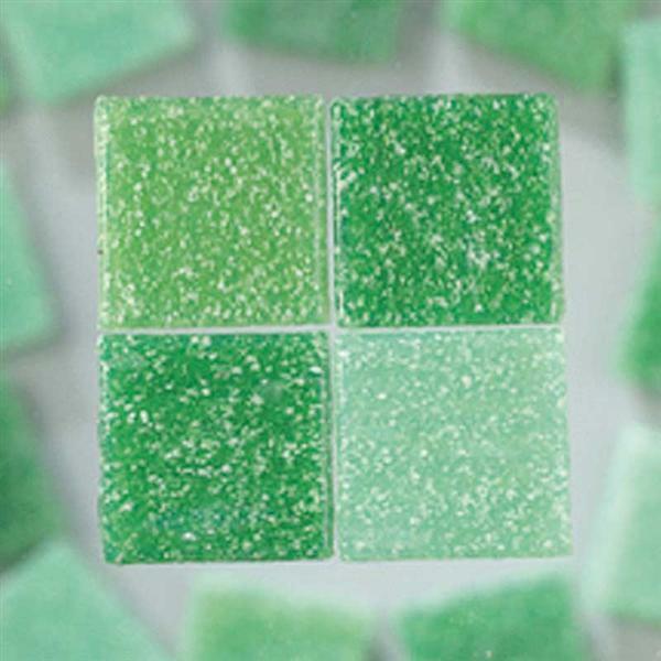 Mozaïek glasstenen - 200 g, groen mix