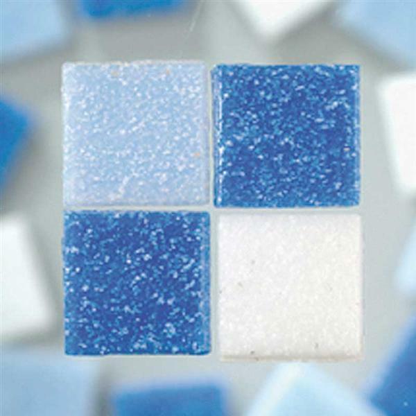Mozaïek glasstenen - 200 g, blauw mix