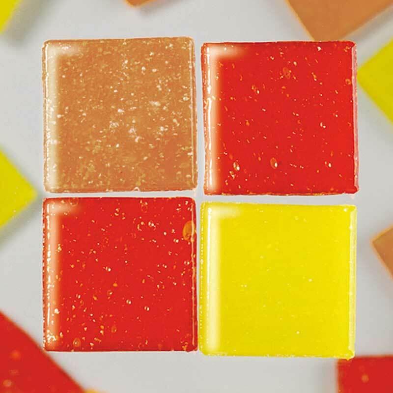 Mozaïek glasstenen - 200 g, rood mix