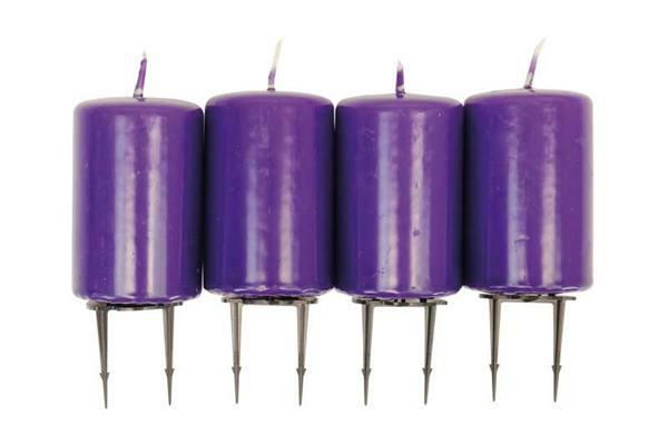Assortiment de bougies - 80 x 50 mm,  lilas