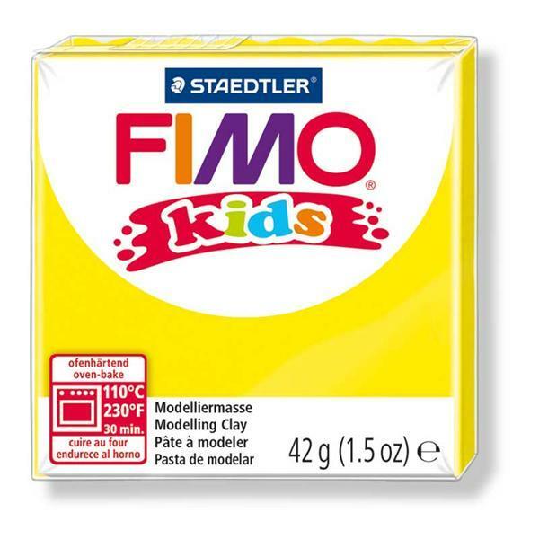 Fimo kids - 42 g, geel