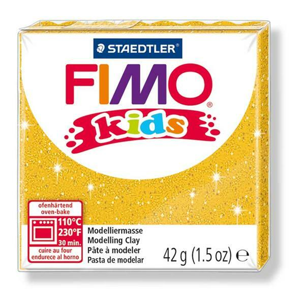 Fimo Kids - 42 g, or pailleté