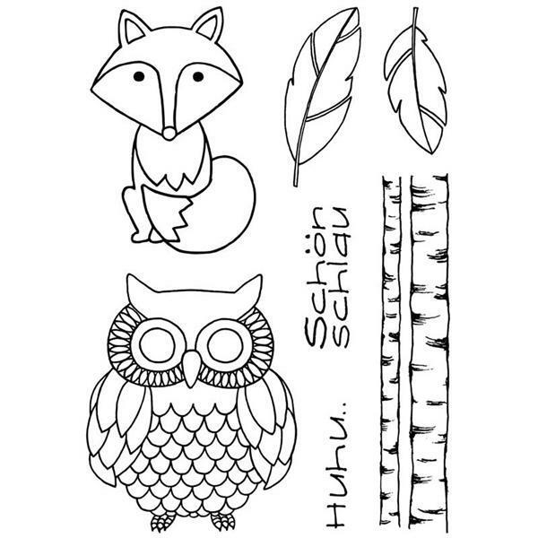 Stempel Set - Fuchs und Eule
