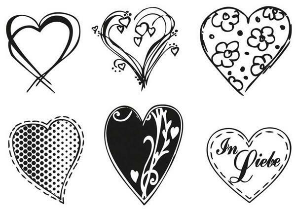 Set de tampons - Cœurs