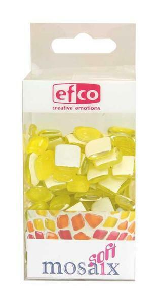 Mozaïek glasstenen soft - 200 g, geel