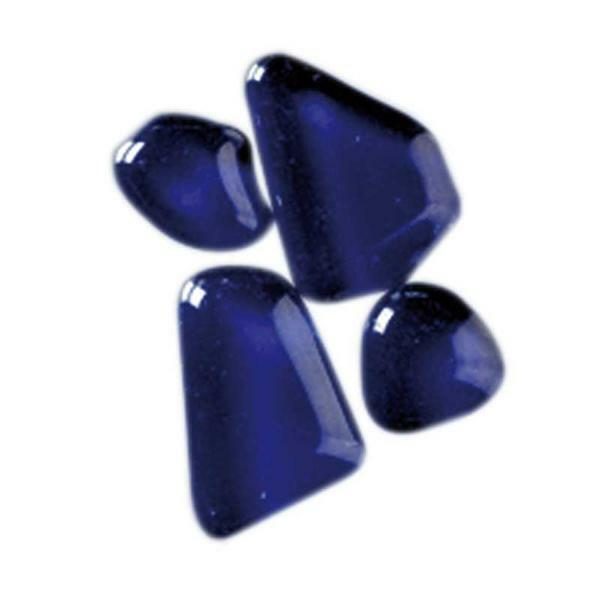 Mosaik Glassteine Soft - 200 g, blau