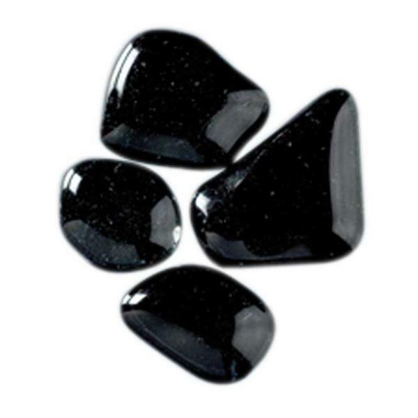 Mozaïek glasstenen soft - 200 g, zwart