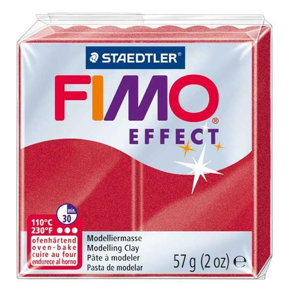 Fimo Soft metallic - 57 g, rubinrot