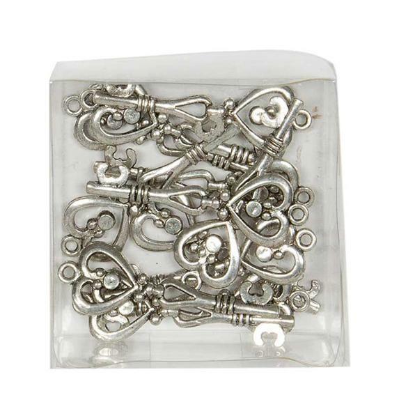 Metalen hanger - sleutel, 12 stuks
