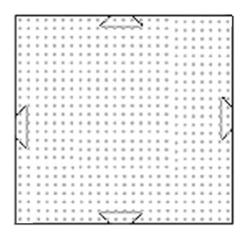 Pixel - grondplaat, 6 x 6 cm