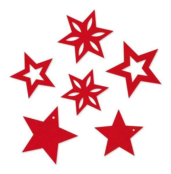 Filzsortiment - Sterne, rot