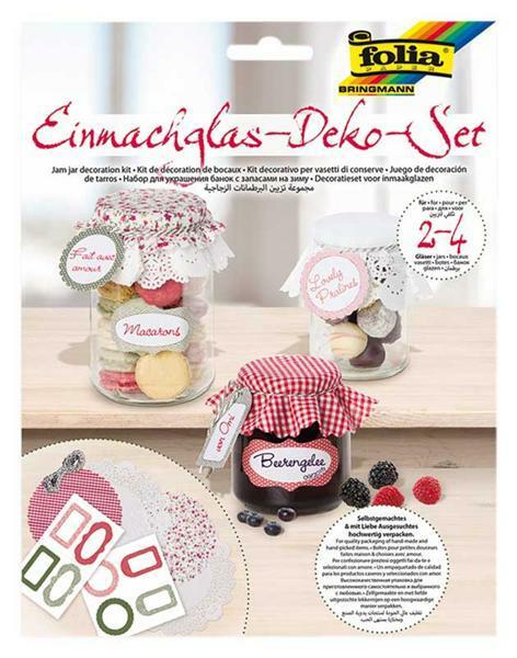 Kit de décoration de bocaux - rouge-vert