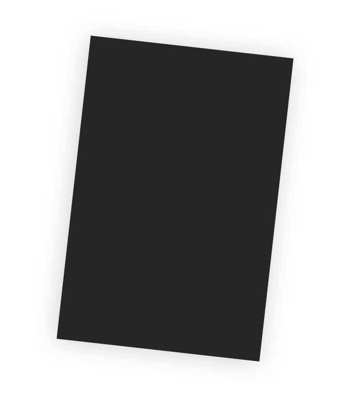 """Plastique """"Fou"""" - 20 x 30 cm, noir"""