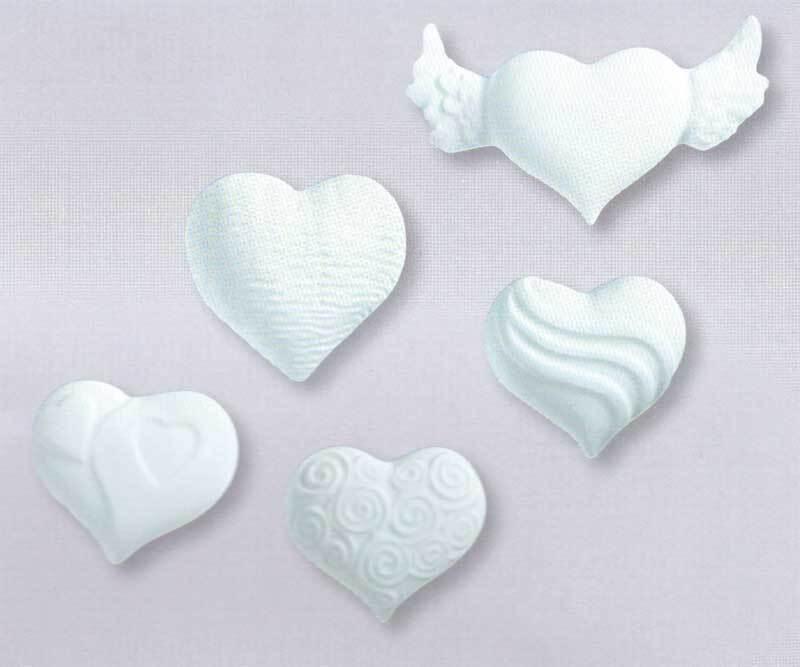Gießform - 5 Herzen