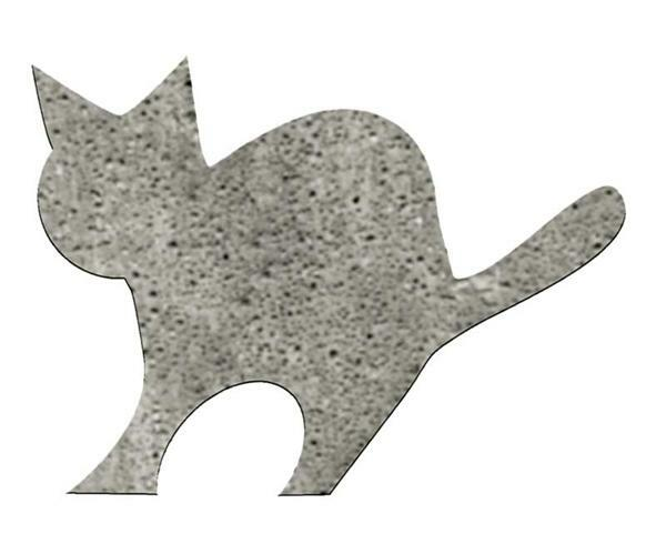 Betonform, Katze mit Sockel