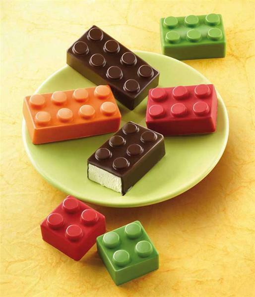 Siliconen vorm, chocolade blok