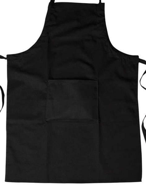 Keukenschort, ca. 65 x 90 cm, zwart