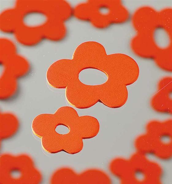Streuteile - Blüten, orange