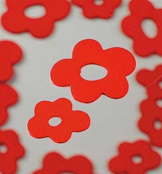 Streuteile - Blüten, rot