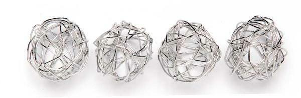 Ballen van draad - 1,5 cm, zilver