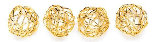 Drahtkugeln - Ø 1,5 cm, gold