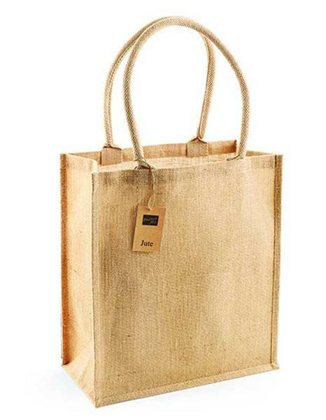 Sac de course en jute - grand, env.36 x 41 x 17 cm