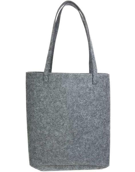 Sac en feutrine -37 x 12 x 40 cm cm, ep.3 mm, gris