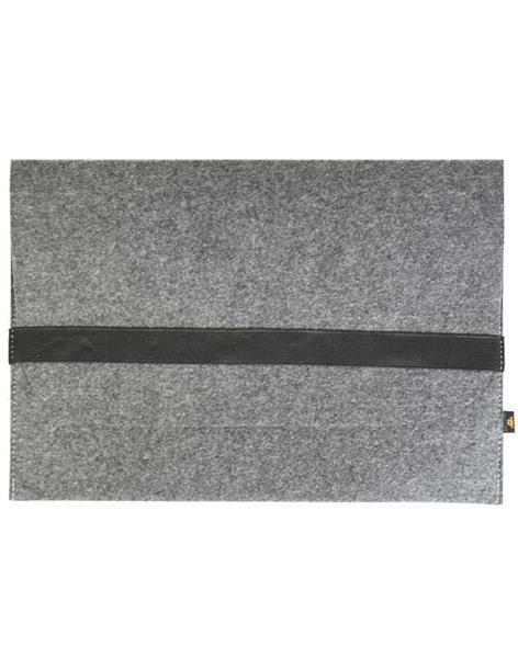 Vilten hoesje - 33 x 23 cm, dikte 2 mm, anthraciet