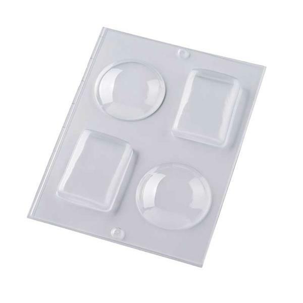 Moule à savons - 3D rond et rectangle