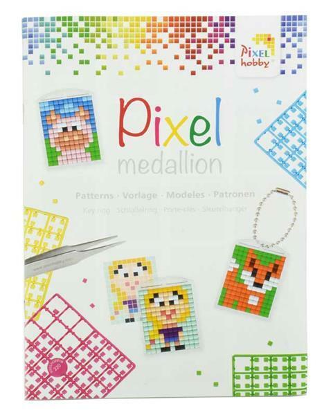 Pixel patronenboekje medaillon