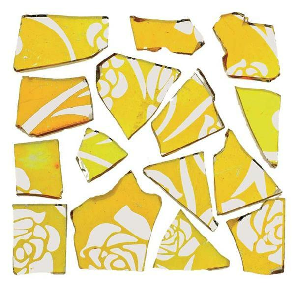Mosaïque tesselles rétro - 100 g, 2 mm, jaune