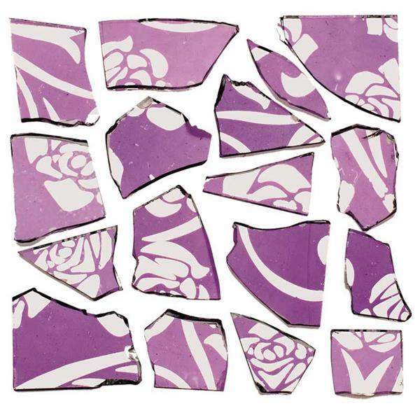 Mosaïque tesselles rétro - 100 g, 2 mm, lilas