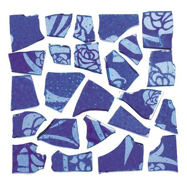 Mozaïek retrostenen - 100 g, 2 mm, blauw