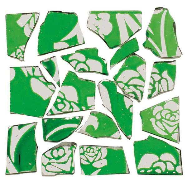 Mozaïek retrostenen - 100 g, 2 mm, groen