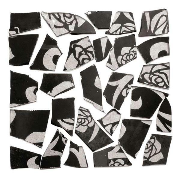 Mozaïek retrostenen - 100 g, 2 mm, zwart