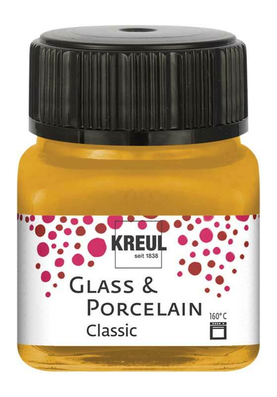 Porzellanfarbe - 20 ml, metallic-gold