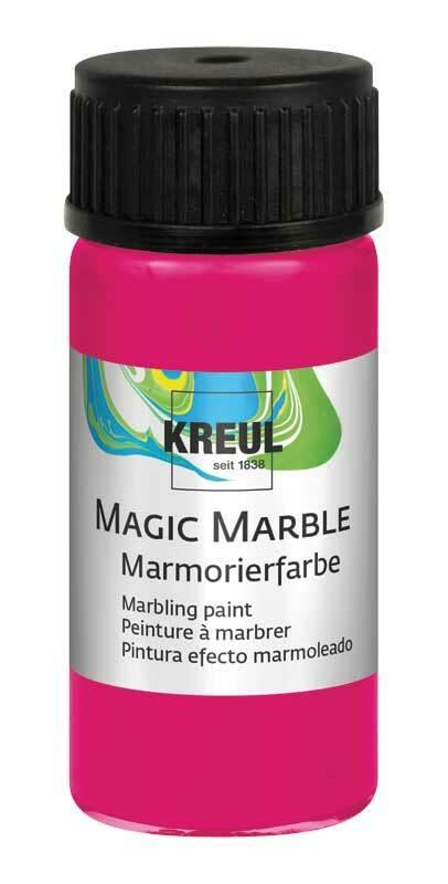 Marmerverf - 20 ml, neonroze