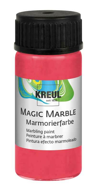 Marmerverf METALLIC - 20 ml, metalic-rood