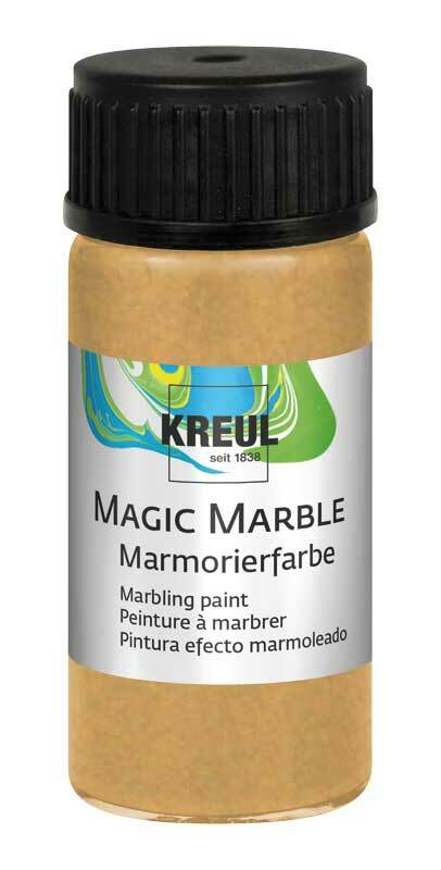 Peinture à marbrer METALLIC - 20 ml, or