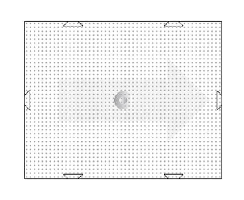 Pixel - grondplaat, 6 x 10 cm