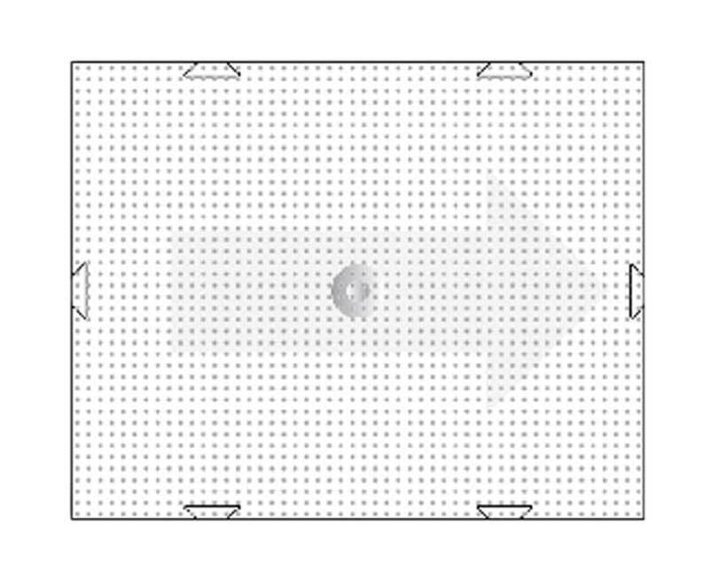 Pixel - Grundplatte, 6 x 10 cm