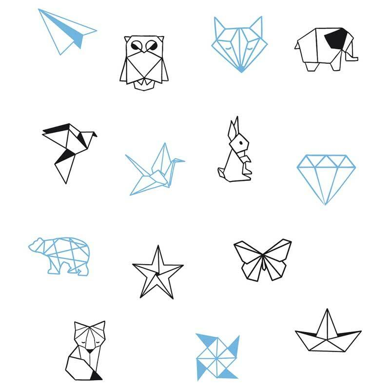 Set de tampons - Origami