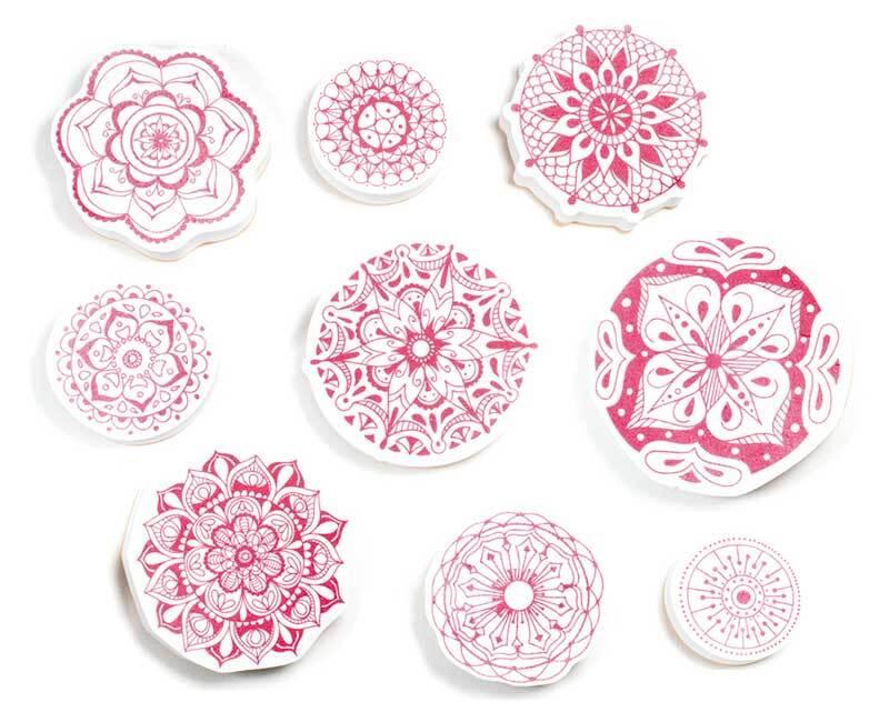 Stempel Set - Textil,  Mandala