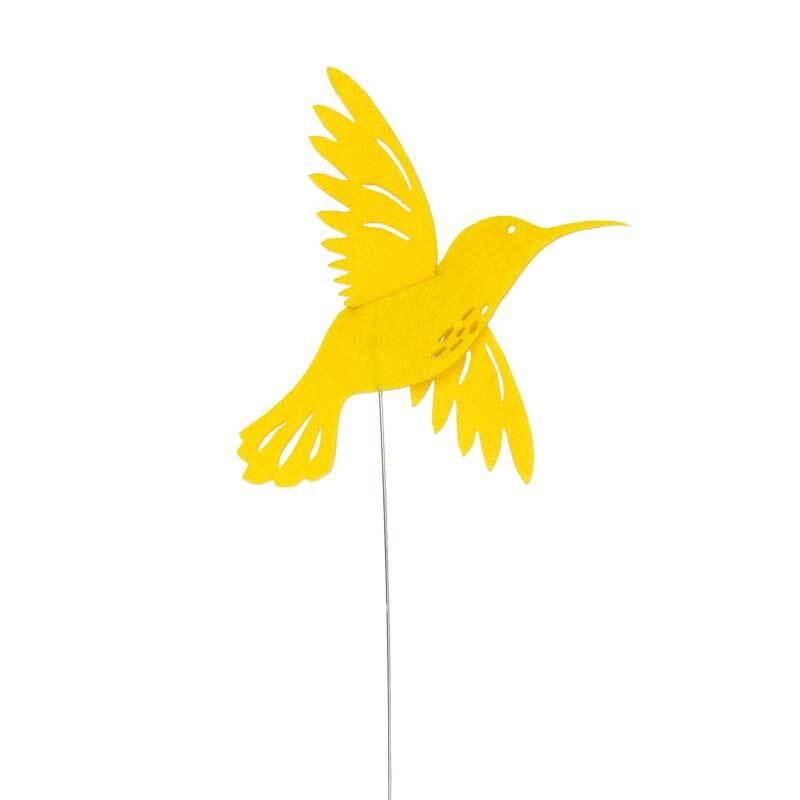Filz Drahtstecker - Kolibri, lemon