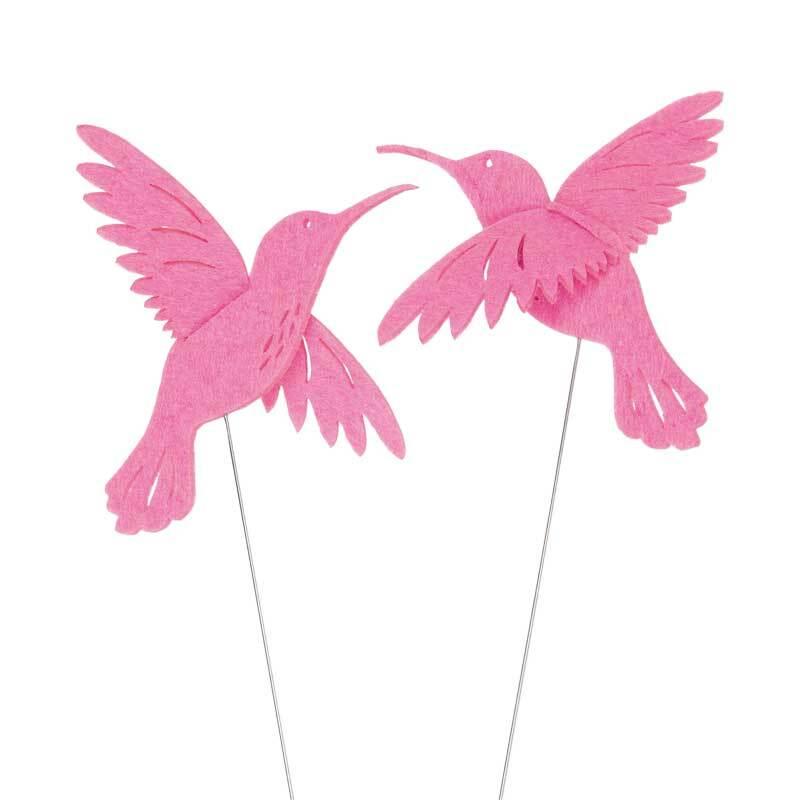 Filz Drahtstecker - Kolibri, rosa