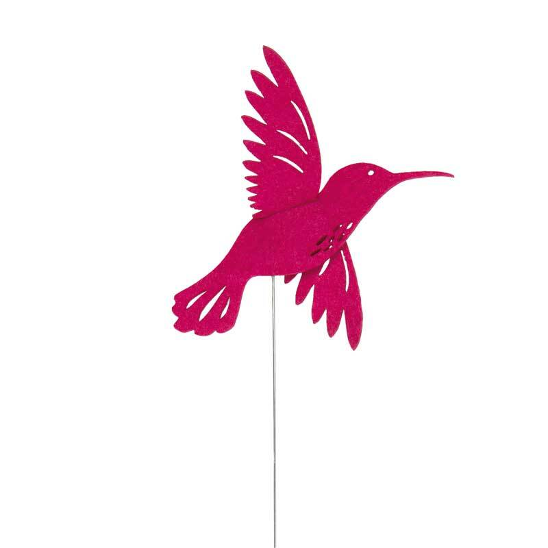 Filz Drahtstecker - Kolibri, pink