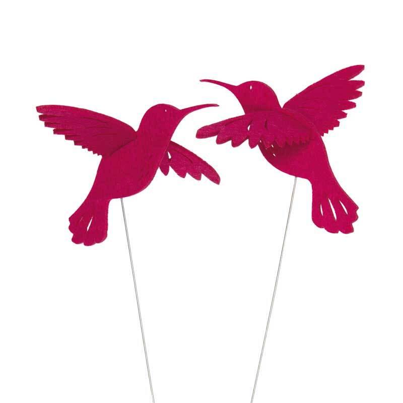 Draad steker - kolibrie, zuurstokroze