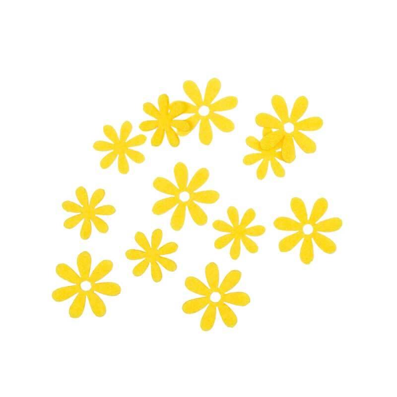 Vilten decoratie delen - bloemen, citroen