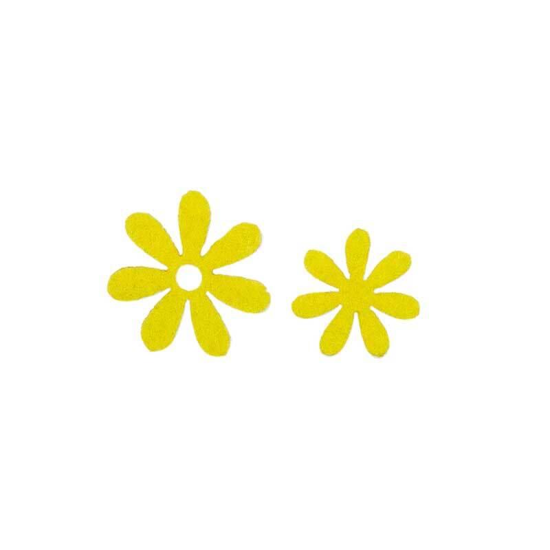Vilten decoratie delen - bloemen, groen